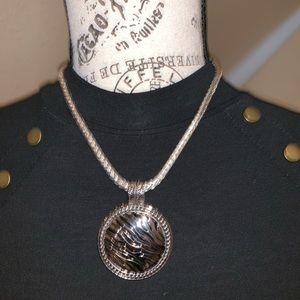Beautiful silver chain with zebra Pendant
